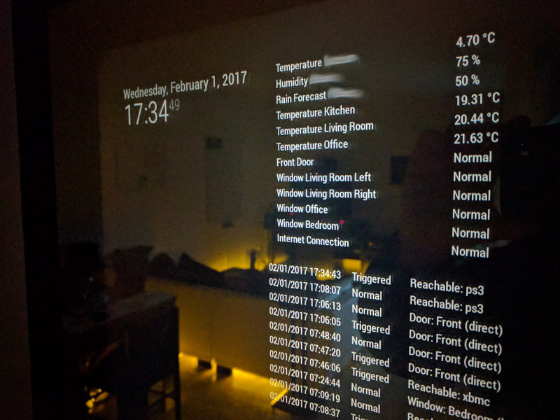 Alarm and Monitoring System for developers (with MagicMirror